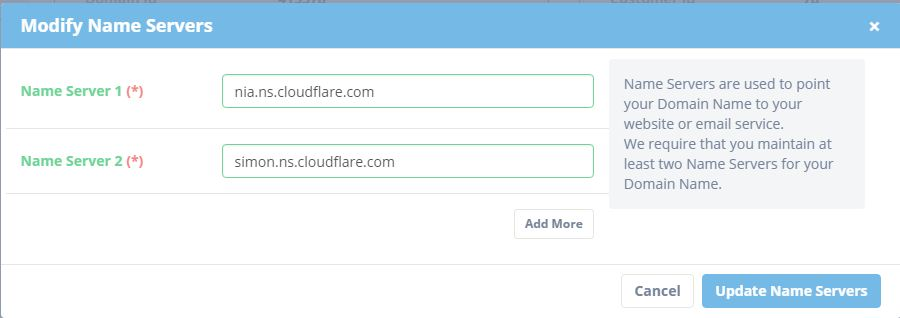 Cara setting cloudflare